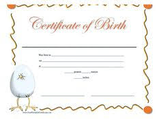 a printable birth certificate in shades of pink for a baby