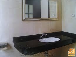 Granite Countertops For Bathroom Vanities Black Galaxy Granite Bathroom Countertop Bathroom Vanity Top Black