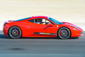 red ferrari race a ferrari 458 on track in vegas speedvegas