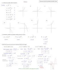 best ideas of exponential function practice worksheets on cover