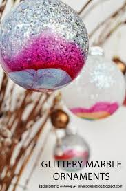 Christmas Decorations Using Glitter by 50 Homemade Christmas Ornaments Diy Handmade Holiday Tree