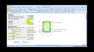 reinforced concrete beam design spreadsheet youtube