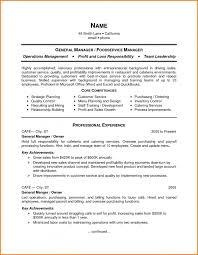 cover letter resume food service army food service resume words