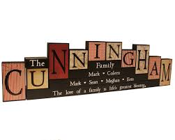 wooden name blocks family name sign mother u0027s day gift mantle