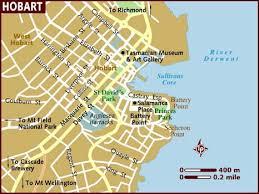map of tasmania australia map of hobart