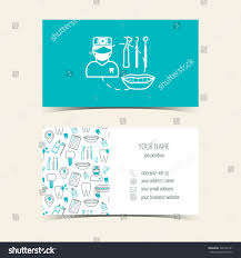 Dental Hygienist Business Cards Business Cards Dental Clinic Promotional Products Stock Vector