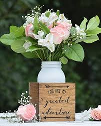 Rustic Vases For Weddings Amazon Com You Are My Greatest Adventure Flower Vase Planter