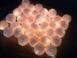 Decorating Christmas Lights Indoors by 35 Cotton Ball Light 12 Feet Christmas Light Porch Garland Patio