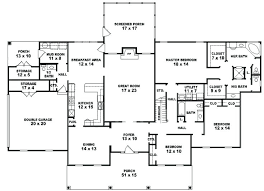 single story 5 bedroom house plans 5 bedroom house plans single story