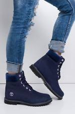 womens boots navy blue timberland block heel leather ankle boots for ebay