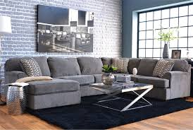 Gray And Gold Living Room by Loric Smoke 3 Piece Sectional W Laf Chaise Living Spaces Spaces