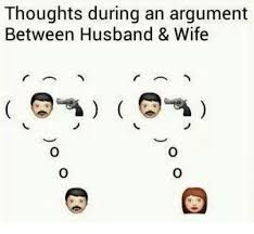 thoughts during an argument between husband wife meme on me me