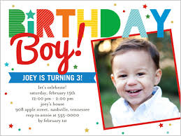 birthday stripes boy 4x5 invitation card birthday invitations