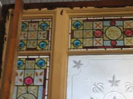 Antique Stained Glass Door by Antique Etched Cut And Stained Glass Door Surround