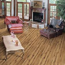 Laminate Flooring At Lowes Shop Allen Roth 4 96 In W X 4 23 Ft L Lodge Oak Handscraped