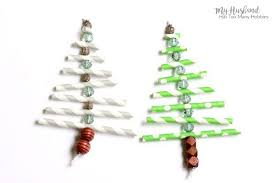 paper straw tree ornaments hometalk