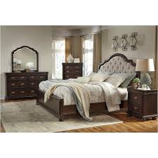 sleigh bedroom set queen b596 57 ashley furniture queen upholstered sleigh bed