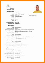 Resume Dates by 6 Cv In English Examples Resume Sections