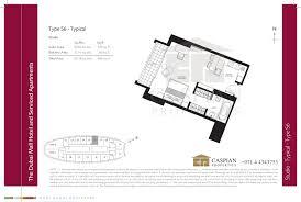 floor plan studio type the address dubai mall hotel floor plans