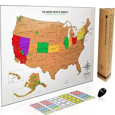 Louisiana travel tracker images Scratch off usa map with national parks capitals jpg