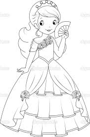 princess coloring u2014 stock illustration 49999689 game ideas