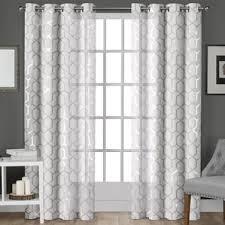120 Inch Sheer White Curtains Modern 108