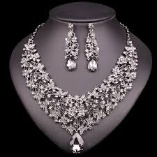 prom jewelry fashion necklace earring sets vintage bridal jewelry sets