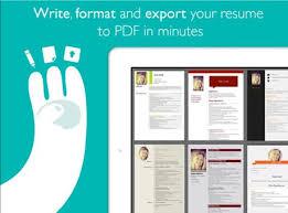Resume Designer App Easy Resume App To Create Professional Looking Resumes Fast