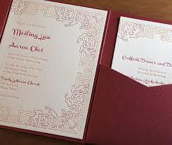 asian wedding invitation asian wedding invitation customization pocket folders and
