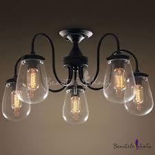 vintage globe glass 5 lights teardrop ceiling l beautifulhalo