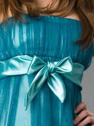 tulle and taffeta spaghetti straps neckline bow tie ornament