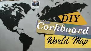 World Map Cork Board by