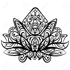 coloring pages henna art ornamental lotus ethnic henna tattoo patterned indian paisley