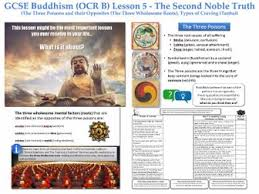 gcse buddhism lesson 5 second noble truth types of craving