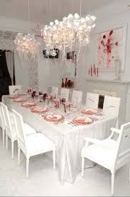 halloween home decorating ideas white red blood bloody dinner