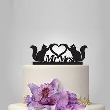 cat wedding cake topper cats wedding cake topper mr and mrs wedding cake topper