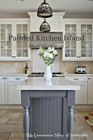 what color to paint kitchen island with white cabinets painted kitchen island