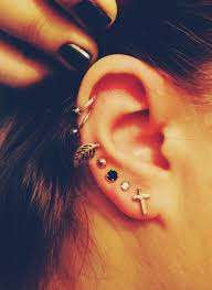earrings on top of ear i m starting to like the hoop cartilage piercings toward the top