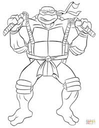 the most stylish ninja turtles coloring page pertaining to