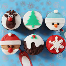 Christmas Cake Decorations Ideas Uk by Christmas Cupcakes Baking Mad