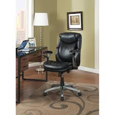 Office Chair Black Leather Serta Air Health And Wellness Mid Back Office Chair Bonded Leather