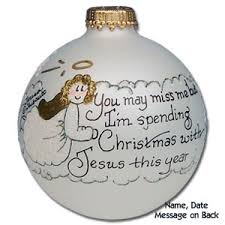 buy memorial glass ornament personalized
