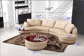 Curve Sofa Modern Beige Sectional Sofa Furniture Tos Lf 108 Lher