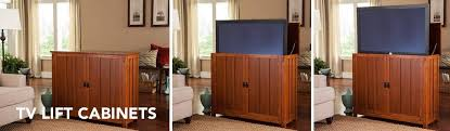auto raising tv cabinet tv lift cabinets touchstone home products inc