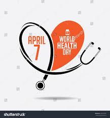 world health day stethoscope design stock vector 592742438
