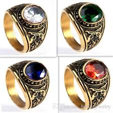 big stones rings images 7 13 gold plated united states army ring with precious big stones jpg