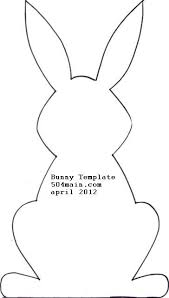 Easter Decorations To Print Off by Best 25 Easter Bunny Template Ideas On Pinterest Easter Art