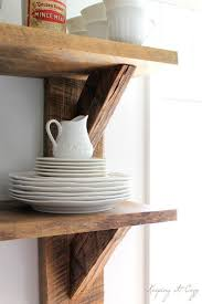 Making A Wooden Shelf Unit by 25 Best Diy Kitchen Shelves Ideas On Pinterest Open Shelving