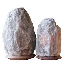 fair trade rare grey himalayan crystal salt lamps set of 2 so