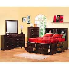 coaster furniture 200409q phoenix contemporary queen bookcase bed